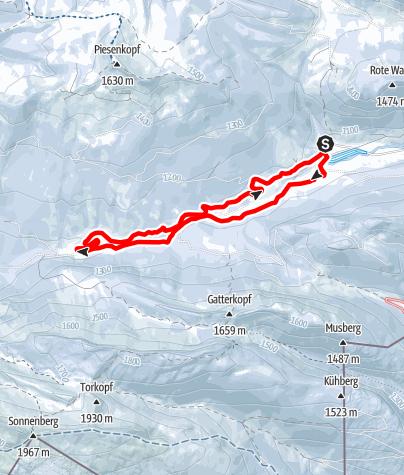 Karte / G - Rundkurs Rohrmoos (Tiefenbach)