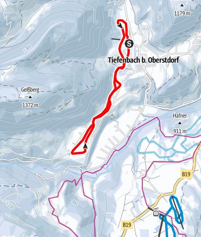 Karte / I - Rundkurs Ferlewang - Tiefenbach