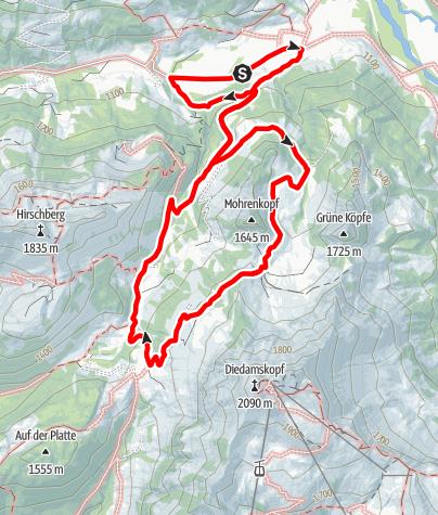 Carte / Bezau | du plus beau refuge à l'alpage