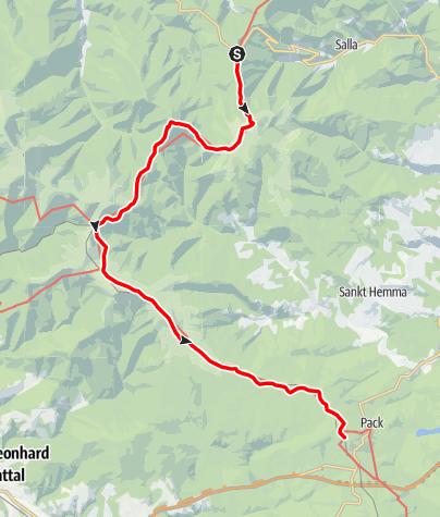 Karte / Koralm Kristall Trail - 1. Tagesetappe