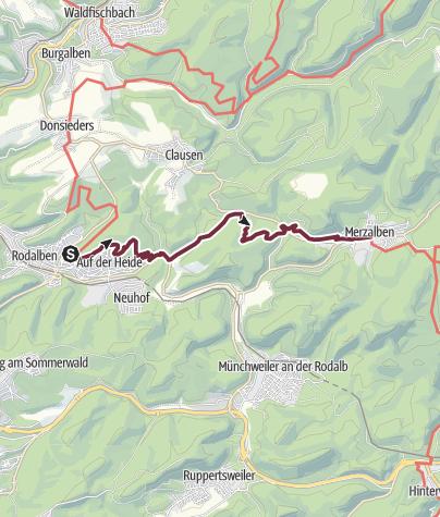 Karte / Pfälzer Waldpfad Etappe 05 Rodalben - Merzalben