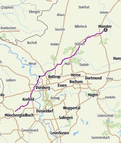 Karte Niederrhein.Münsterland Und Niederrhein Von Münster Nach Viersen Radtour