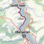 מפה / RheinBurgenWeg 04. Etappe Oberwesel - St. Goar (Süd-Nord)