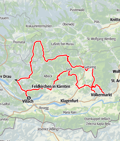 Map / Central Carinthia and Gurk Valley Alps