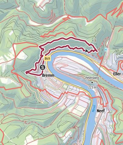 Karte / Calmont-Klettersteig
