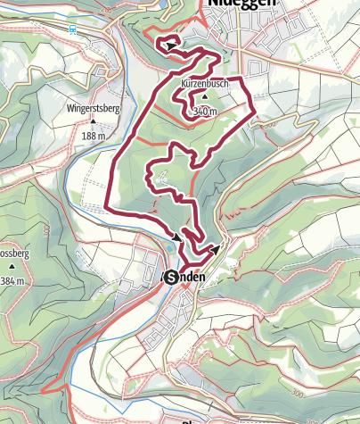 Karte / Von Abenden zur Burg Nideggen