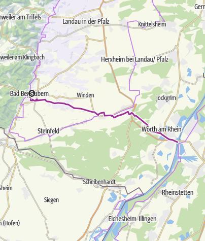 Karte / Petronella-Rhein-Weg