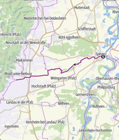 Karte / Vom Rhein zum Wein