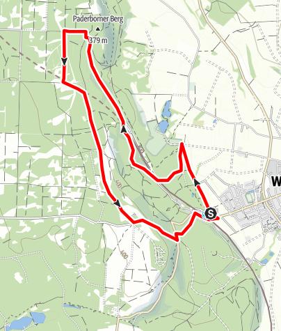 Karte / Aktiv-Park im Eggegebirge, Route 4