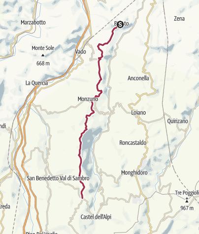 Mapa / Tappa 2 - Cammino degli dei