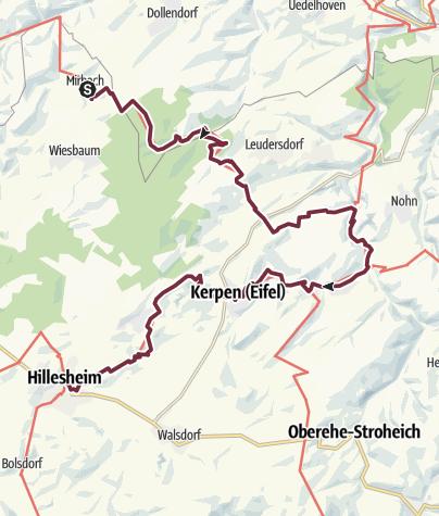 Map / Eifelsteig Etappe 08: Mirbach - Hillesheim
