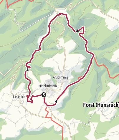 Karte / Traumschleife Layensteig Strimmiger Berg