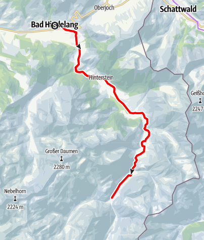 Karte / Tour ins Hintersteiner Tal
