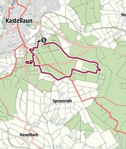 Karte / Traumschleife Burgstadt-Pfad