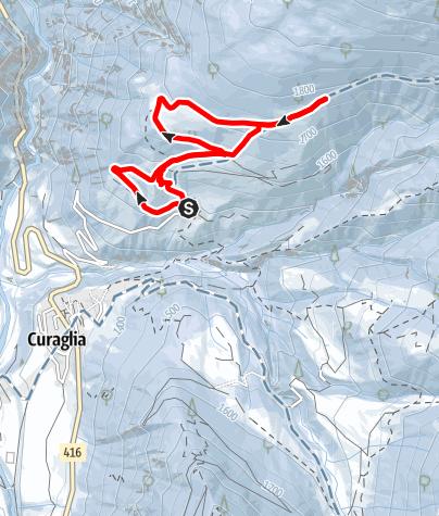 Map / Curaglia -  Soliva - Stavel Sut