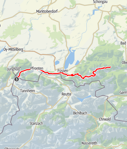 Karte / E4 - Maximiliansweg