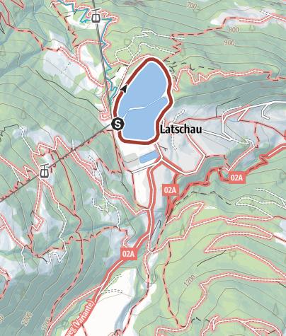 Karte / Barrierefrei: Latschau-Panorama – Auf dem Dammweg um den Stausee