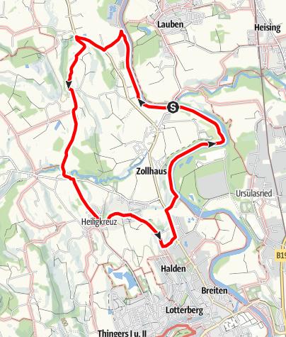 Karte / Kempten Wandertour: Rund um Hirschdorf
