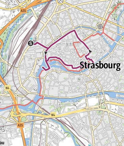 Elsass Karte Zum Ausdrucken.Historischer Stadtrundgang In Strasbourg Stadtrundgang