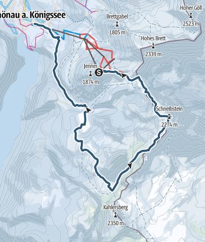 Karte / Kleine Reibn, Schneibstein