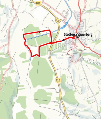 Karte / Moos-Erlebnis-Pfad (MEP) Stötten a.A.