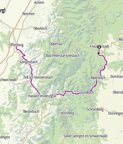 Map / Familienradweg Kinzigtal