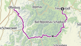 Karte / Familienradweg Kinzigtal