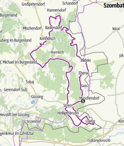 Térkép / B57 Grenzüberschreitender Radwanderweg Weinidylle