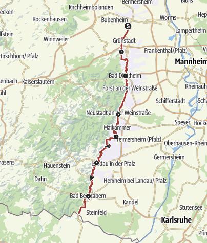 Karte / Pfälzer Mandelpfad (Hauptweg)