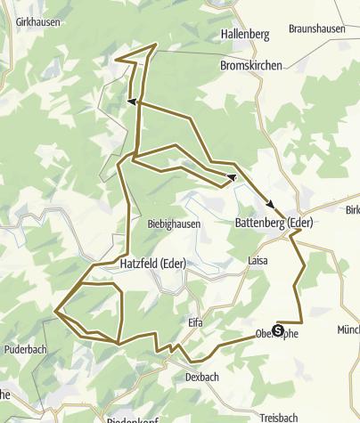 Karte / BURGWALD ZU PFERD: blaue berge xxl vorschau