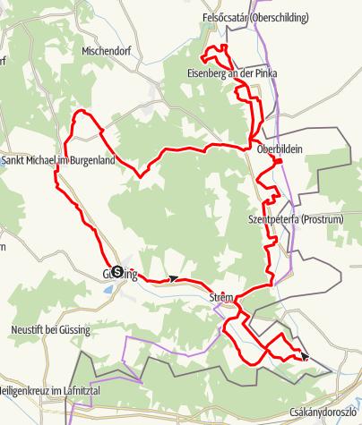 Karte / ökoEnergieland-Radweg