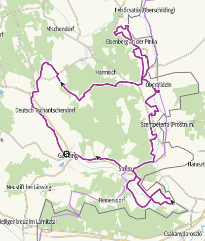 Map / ökoEnergieland-Radweg