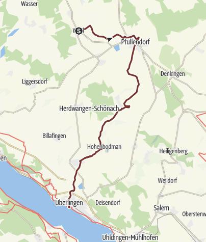 Karte / Linzgauer Jakobsweg von Wald nach Überlingen