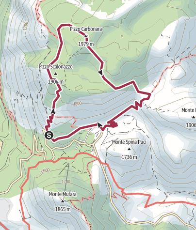 Map / Pizzo Carbonara