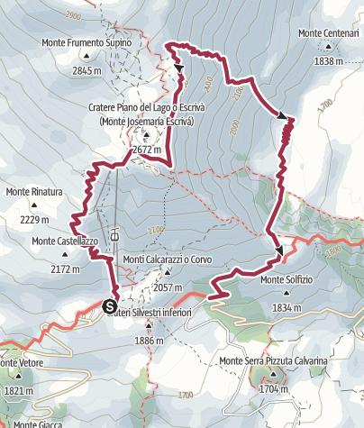 Map / Arco di Tufo dal Belvedere della Valle del Bove