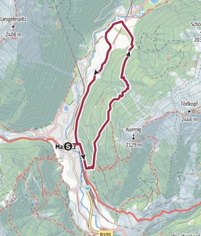 Karte / Auernigboden- Lubitzalm- Raineralm