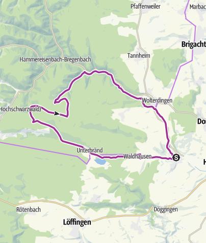 Karte / Kirnbergsee-Route ab Bräunlingen
