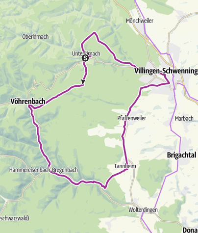 Karte / Unterkirnach - Unterkirnach-Route