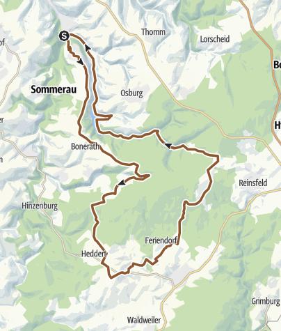 Karte / Ruwer Rad-Aktiv-Route
