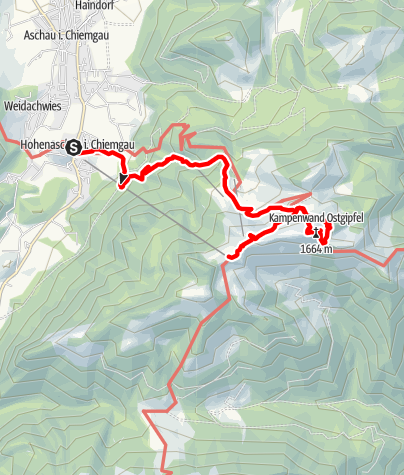 Karte / Kampenwand Ostgrat Klettersteig