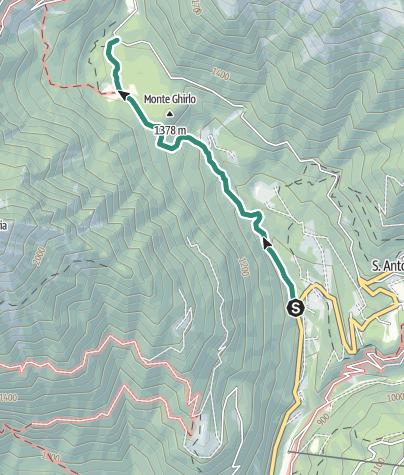 Karte / Wanderung Rifugio Nambrone – Cascata Amola