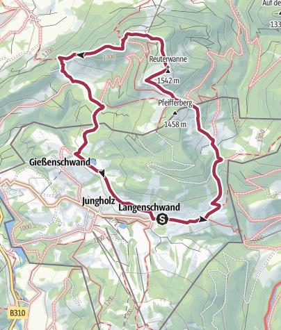 Karte / Von Jungholz über die Reuterwanne