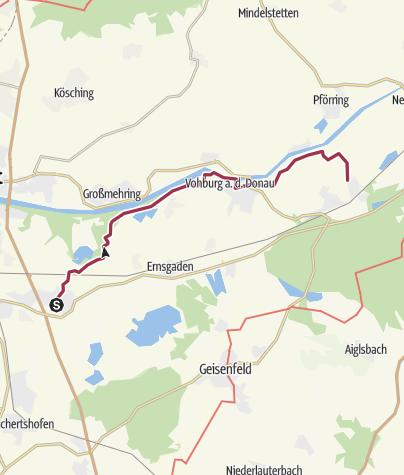 Karte / PAF per PEDES - 4. Etappe - Manching nach Vohburg und Münchsmünster