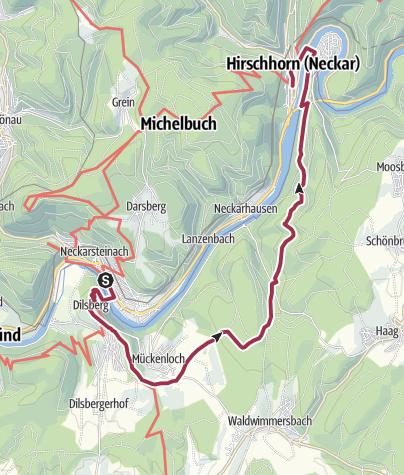 Karte / Von Neckarsteinach zur Burg Hirschhorn