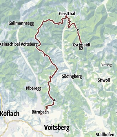 Karte / 2. Etappe: Jakobsweg Weststeiermark