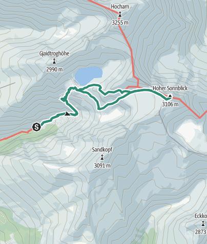 Karte / Sonnblick über das Fleißtal
