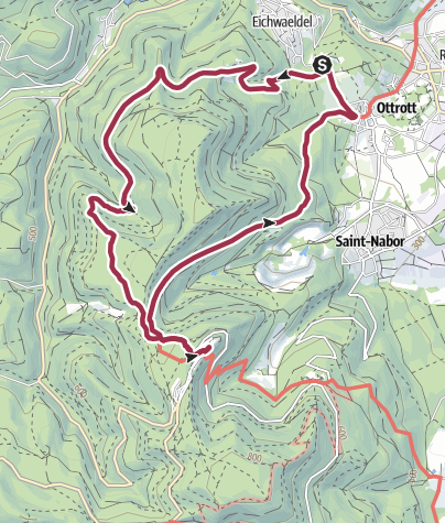 Karte / Zum Kloster Mont Sainte Odile