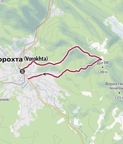 Map / Ворохта - Полонина Діл