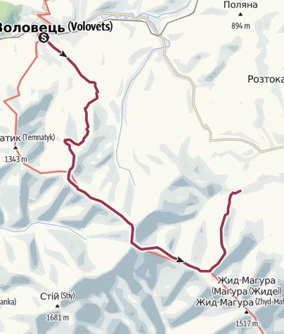 Map / Воловець-ВВерх-Гимба