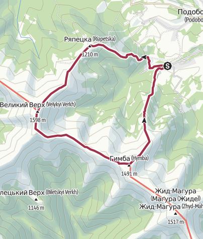 Mapa / Пилипець - Гимба - ВВ - Шипіт